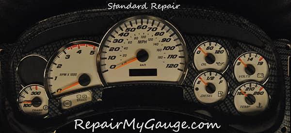 Cluster gauge standard repair